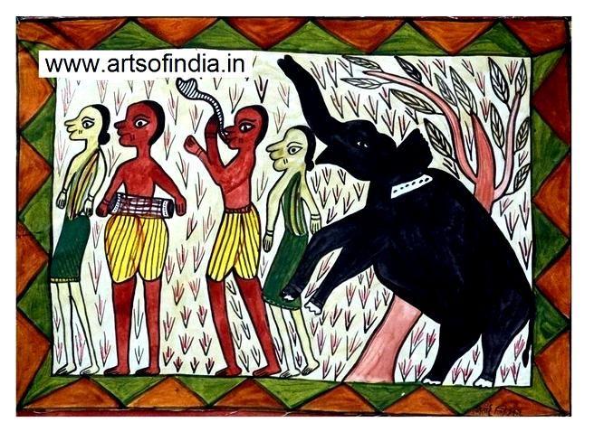 ARTS of INDIA | Santhal Painting (Jadupatua) Painting by Tribal Artists |  Sustainable Livelihood